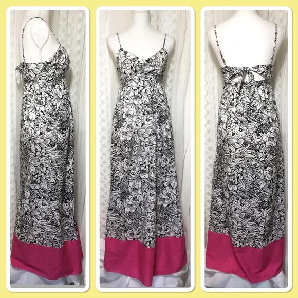 Aeropostale Dresses & Skirts - Long maxi Hawaiian cotton dress black-and-white